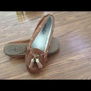 Lucky Brand Suede Moccasin  Shoes